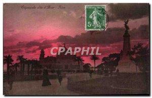 Nice Old Postcard Crepuscule Cote d & # 39azur