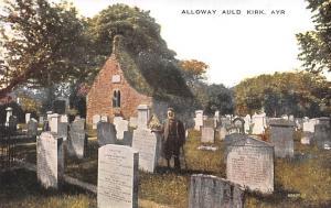 Scotland, UK Old Vintage Antique Post Card Alloway Auld Kirk Ayr Unused