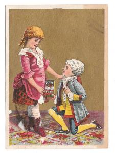 Victorian Trade Card Lavine Soap Hartford CT Colonial Girl and Boy on knee