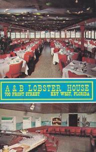 Interior, A & B Lobster House, Key West,  Florida, 40-60s
