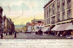 PRE-1907 SCRANTON, PA LACKAWANNA AVENUE 1907 Tuck & Sons Raphotype
