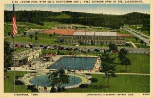 TN - Kingsport. Legion Pool, Civic Auditorium, J Fred Johnson Park