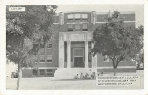 Weatherford OK~Southwestern State College Diversified Occupations~Library~1930s