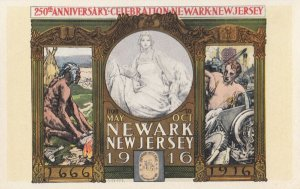 Indian Poster Art ; 250th Year Celebration , NEWARK , New Jersey , 1916
