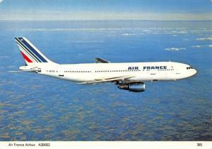 Air France Airbus A300B2 F-BVGA Airplane Postcard