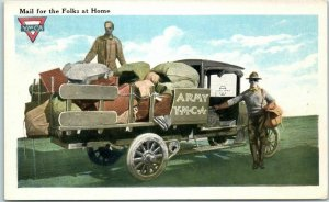 Vintage 1910s YMCA WWI Military Postcard Mail for the Folks at Home Unused