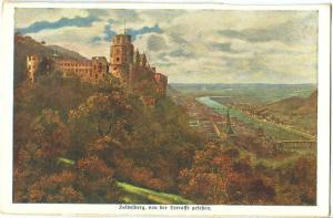 Germany, Heidelberg, von der Terrasse gesehen, early 1900s unused Postcard