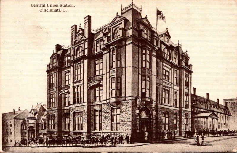 Ohio Cincinnati Central Union Station 1910