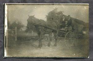 dc174 - Canada Ontario 1910s Real Photo Postcard Horse Buggy. FREE SHIPPING