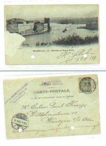 pc506 postcard Marseille France 1901
