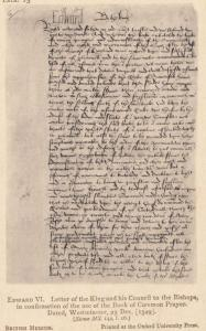 Henry VIII Letter To Cardinal Wolsey Thanking Him 1518 Manuscript Old Postcard
