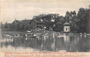 C50/ Akron Ohio Postcard 1907 Albertson Cottage State Mills Little Reservoir