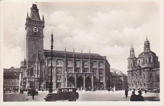 Czechoslovakia Prague Town Hall Of The Old City Real Photo