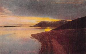 Hammerfest Norway~North Cape~Midnight Sun Peeks Thru Clouds~Beach~1908 Postcard