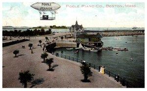 Massachusetts  Boston , Poole Pianos , Hot Air Balloon