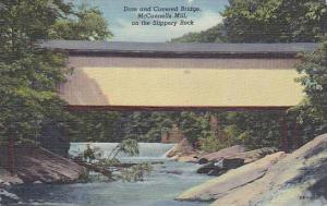 Dam and Covered Bridge, McConnells Mill on the Slippery Rock, Pennsylvania,30...