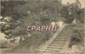 Postcard Old Forest of Fontainebleau Belvedere and Medallion of Denecourt (ma...