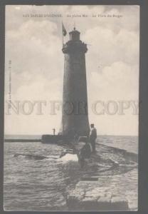 106179 LIGHTHOUSE Sables-d'Olonne En pleine Mer FRANCE Vintage