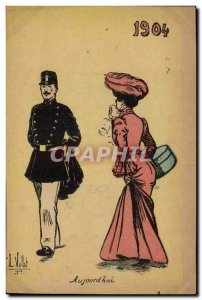 Old Postcard Army Today & # 1904 Woman 39hui