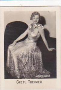 Orami Cigarette Card Film Favourites Series C No 250 Gretl Theimer