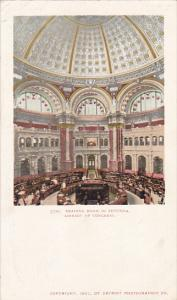 Reading Room In Rotunda Library Of Congress Washington DC