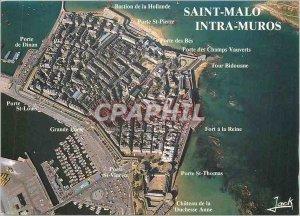Postcard Modern Britain Emerald Coast Saint Malo (I and V) The City Intre Muros