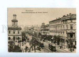 191571 POLAND Warsaw Wien railway station TRAM str ADVERTISING