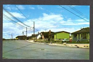PQ Houses Homes Baie Comeau Saguenay QUEBEC Canada Carte Postale Postcard PC