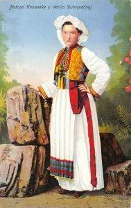 Vintage 1920s Postcard, Konavoka Croatia Costume, Dubrovnik ER9