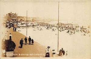 Weymouth UK Esplande & Sands Beach View RPPC Real Photo Postcard