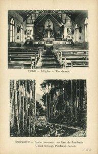 PC CPA PAPUA NEW GUINEA, YULE, L'EGLISE, ONONGHE, Vintage Postcard (b19750)