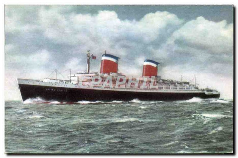 Postcard Old Ship Ship SS United States