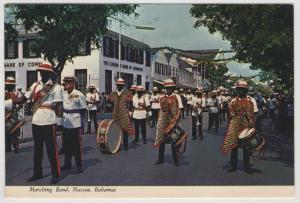 Marching Band Changing of the Guard Street Scene Nassau Bahamas Postcard