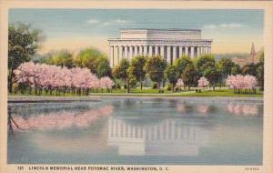 Lincoln Memorial Near Potomac River Washington DC
