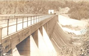 Greenville Maine~Road Millinocket-Ripogenus Dam on Penobscot River~Vintage RPPC