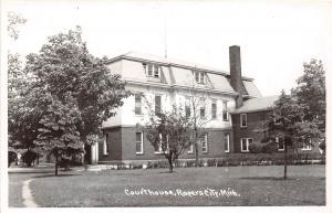D53/ Rogers City Michigan Mi RPPC Postcard County Court House 1950   12