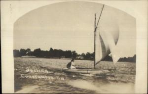 Constantia NY Sailing c1910 Real Photo Postcard