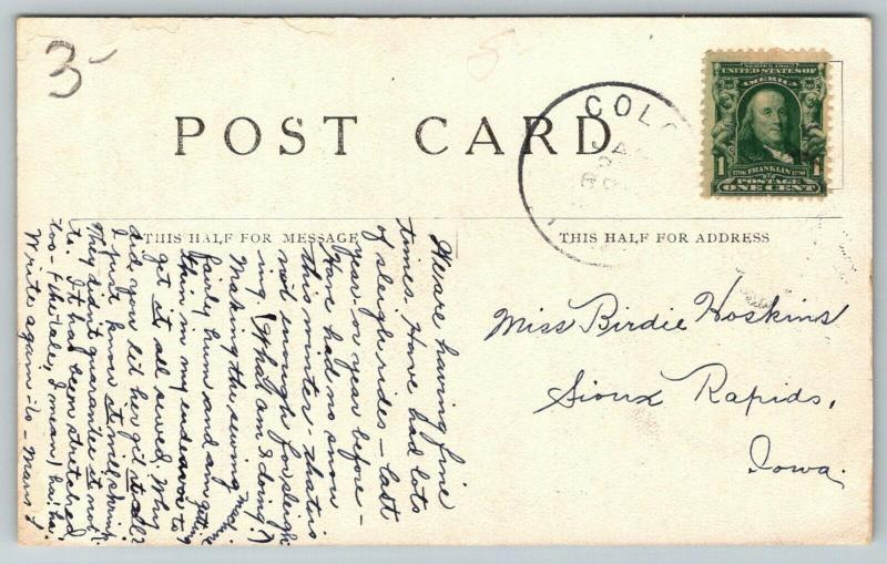 Nevada Iowa~Memorial Lutheran Church~LB De Mange Pub~1907 Postcard