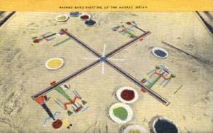 Navajo Sand Painting Indian Postcard Post Cards  Navajo S& Painting