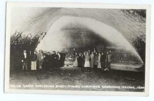 RPPC of Explorers in Third Chamber of Shoshone Ice Cave, Idaho, ID