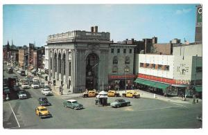 York PA Continental Square Taxi Cabs G C Murphy Vtg Postcard