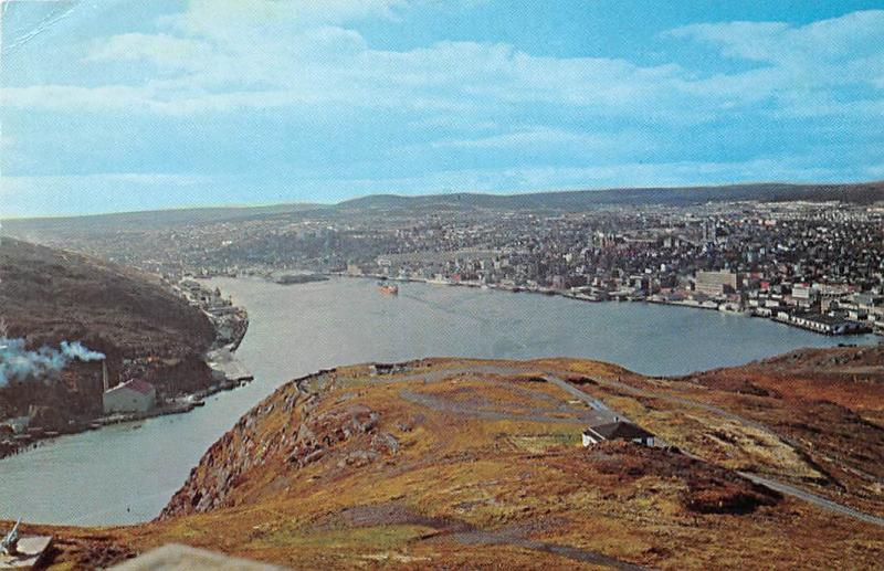 Canada Panoramic View of The Narrows harbour City of St. John's
