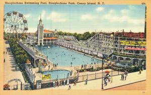 USA Coney Island Steeplechase park Swimming Pool 01.69
