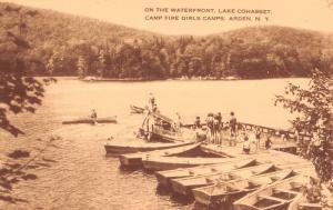 Arden New York Lake Cohasset Girls Camp Waterfront Scene Antique Postcard K27614