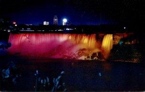 New York American Falls Of Niagara Under Illumination