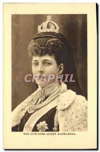 Old Postcard The dowager Queen Alexandra