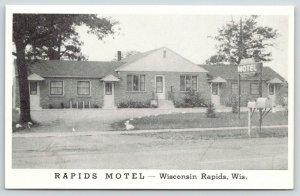 Wisconsin Rapids Wisconsin~Rapids Motel~Highway 13~1940s Roadside