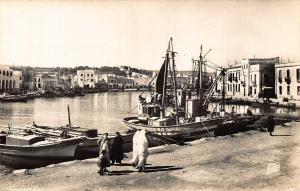 Tunisia Bizerte Le Vieux Port Harbour Fishing Boats Postcard
