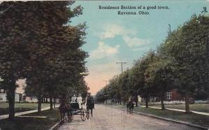 Ohio Ravenna Residence Section Street Scene