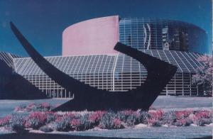 Civic Centre Peoria Ronald Bladen Sculpture Sonar Tide Postcard